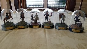 Six hand painted limited edition domed civil war sculptures in Fort Belvoir, Virginia