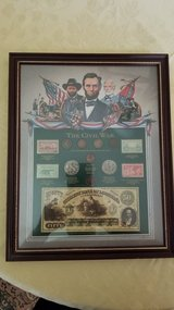 Framed Civil War Money in Fort Belvoir, Virginia