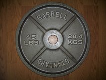 One (1) 45 Lbs/20.4 Kgs Standard Bar Bell Barbell Weight in Moody AFB, Georgia