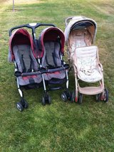 2 Double Strollers. $25 each -- Pick up in Oceanside in Camp Pendleton, California