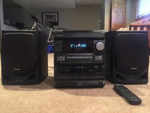 AIWA Home Stereo with 3-CD changer and dual tape deck in Naperville, Illinois