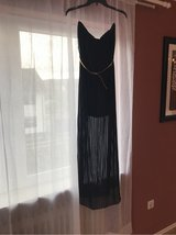 S/M black strapless formal dress with gold belt in Ramstein, Germany