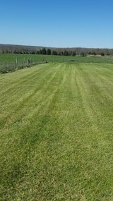 Mowing in Fort Leonard Wood, Missouri