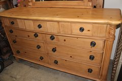 Solid wood 9 Drawer Dresser & Mirror in Wilmington, North Carolina