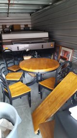 Solid wood table with 4 chairs in Vacaville, California