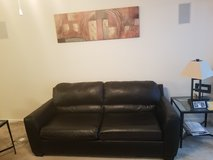 black leather couch in Fort Benning, Georgia