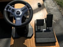 InterAct Concept 4 RACING WHEEL & PEDALS Controller Set for Nintendo N64 in Naperville, Illinois