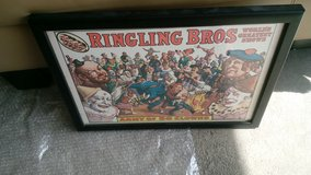Ringling Brothers framed poster and 2 programs in Algonquin, Illinois