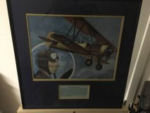 Lloyd Stearman framed aircraft print by R. Sherry - Navy Aviation Pioneer in Fort Meade, Maryland