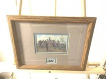 Battle of Gettysburg 100th Anniversary framed print wtih 1963 stamp in Fort Meade, Maryland