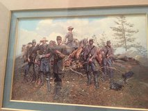 Battle of Gettysburg 100th Anniversary framed print with 1963 stamp in Fort Meade, Maryland