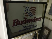 Vintage large 1994 USA World Cup mirror by Budweiser in Fort Meade, Maryland