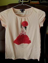Gap Pretty Peach Colored T-shirt with Design size 14-16 in Byron, Georgia
