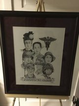 Military Nurse Corps professional pencil drawing in framed/matting frame in Fort Meade, Maryland