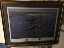 Professional Aircraft Art - Ronald Wong - F-15s over Dover UK - Lakenheath Jets in Fort Meade, Maryland