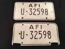 1980s US Forces in Italy License Plates - Set of Matching plates in Bolling AFB, DC