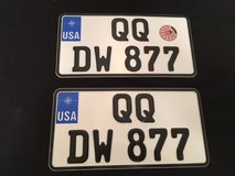 US Forces in Germany shipping licenses plates - never used set of 2 in Bolling AFB, DC