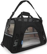 Oxgord Pet Carrier Soft Sided Small Cat / Dog Comfort Black Travel Bag Airline Approved in Naperville, Illinois