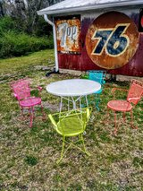 whimsical vintage iron bistro Set in Cherry Point, North Carolina