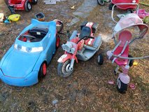 Power wheels and trike in Camp Lejeune, North Carolina