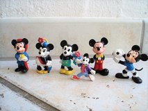 6 Mickey and Minnie Mouse rubber  figures in Stuttgart, GE