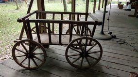 Antique Goat Cart in Coldspring, Texas
