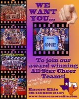 All-Star Cheerleading Teams Forming Now in Cleveland, Texas