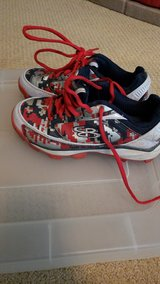 boys size 3 Boombah baseball spikes in Kingwood, Texas