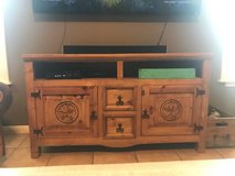 rustic pine entertainment stand in Spring, Texas