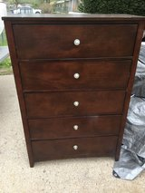 "solid wood 5 drawer chest 35.5x17"" 52"" tall in Fort Riley, Kansas"