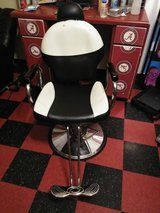 Barber chair in Fort Campbell, Kentucky