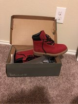 "Timberlands size 6 women's  ""Cherry Red"" in Baytown, Texas"