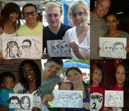 Caricature Entertainment for your Birthday Party, Wedding, or Event.  Groomsmen beer mugs available in Camp Lejeune, North Carolina
