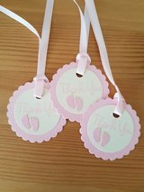All New Baby Girl Thank You Tags Handmade in Ramstein, Germany