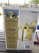 "NIB Hampton Bay 7.75"" Brass Exterior Coach Lantern Light in Fairfield, California"