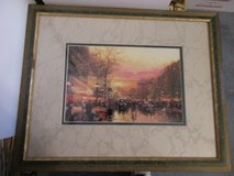 "Thomas Kinkade Framed Matted Print 18"" x 14 1/2""  Cafe Nanette in Perry, Georgia"