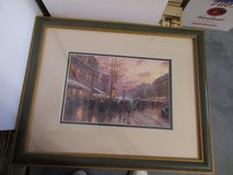 "Thomas Kinkade Framed Matted Print 18"" x 14 1/2"" City Scene in Warner Robins, Georgia"