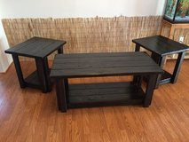 Handcrafted Coffee Table & 2 Side Table Set - Ebony in Fort Lewis, Washington