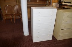 Painted White 5 dr. Chest in Fort Lewis, Washington