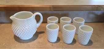 Fenton white milk glass hobnail juice set in Fort Leonard Wood, Missouri