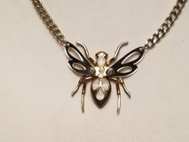 """Spider Insect Wings Gold Silver Tone 16"""" Chain Pendant Statement Necklace in Kingwood, Texas"""