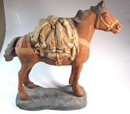 Ceramic Packhorse Figurine signed Siddie in Yucca Valley, California