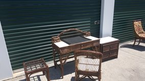 Rattan desk,chair ,table & cabinet in Camp Lejeune, North Carolina