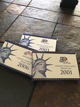 3 Proof Sets (2001,2003,2006) in Lake Charles, Louisiana