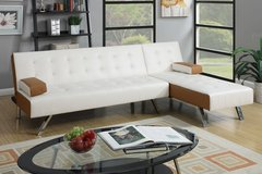 SECTIONAL FUTON MAKE A QUEEN BED FREE DELIVERY in Riverside, California