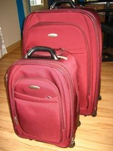 """Samsonite Magnitude II Travel suitcase Set, burgundy, Spinner, 29"""" XL suitcase, 21"""" carry-on in Ansbach, Germany"""