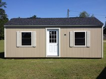 12x24 Tiny Home Office Storage Building Shed WIRED!! in Moody AFB, Georgia