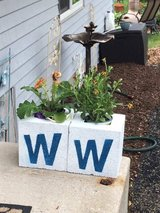 *Cinder Block Planters* in Yorkville, Illinois