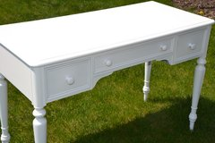 white solid wood desk in white enamel finish in Naperville, Illinois