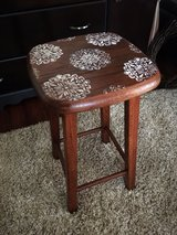"Cute 24"" refinished wood stool in Morris, Illinois"